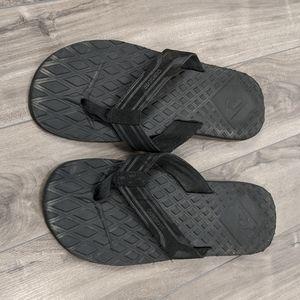 Mens Quiksilver Black Sandals Flip Flops 13
